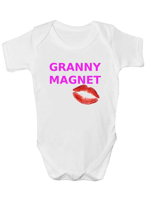 Granny Magnet Girls Baby Vests Bodysuits