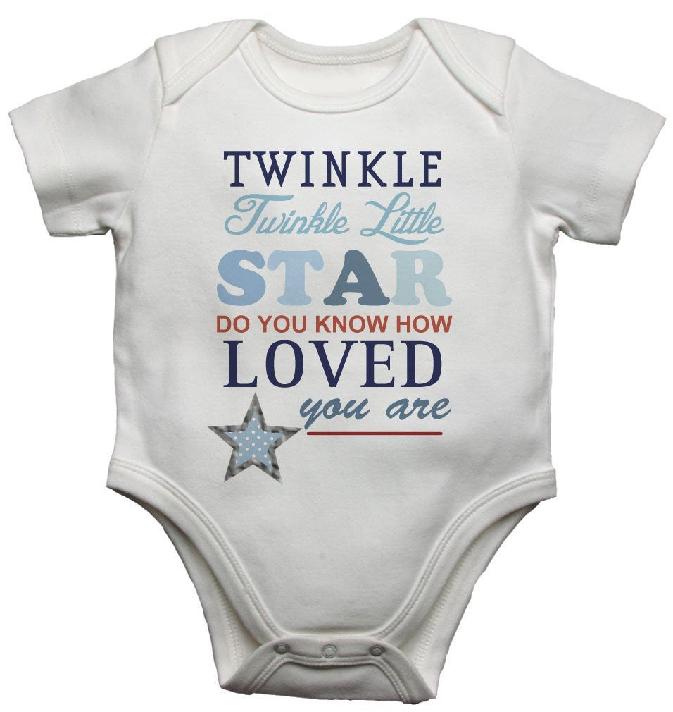Twinkle Twinkle Little Star Boys Baby Vests Bodysuits