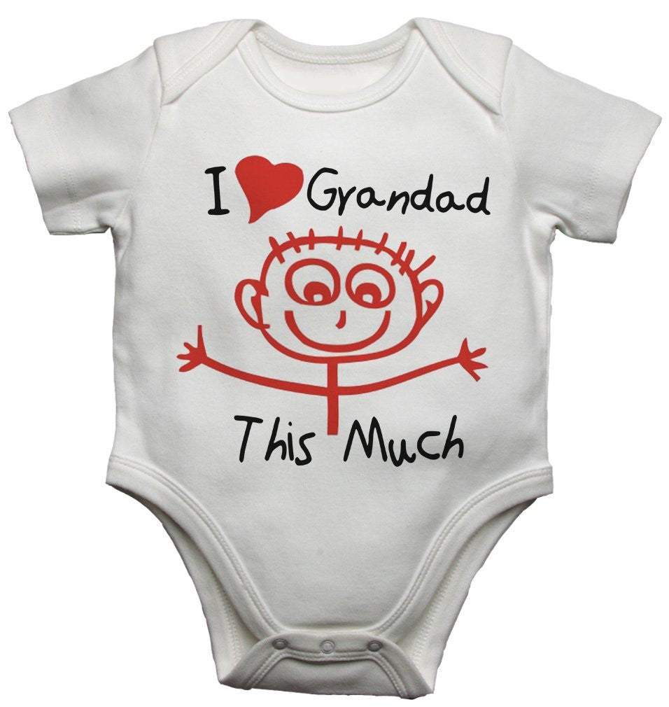 I Love Grandad This Much Baby Vests Bodysuits