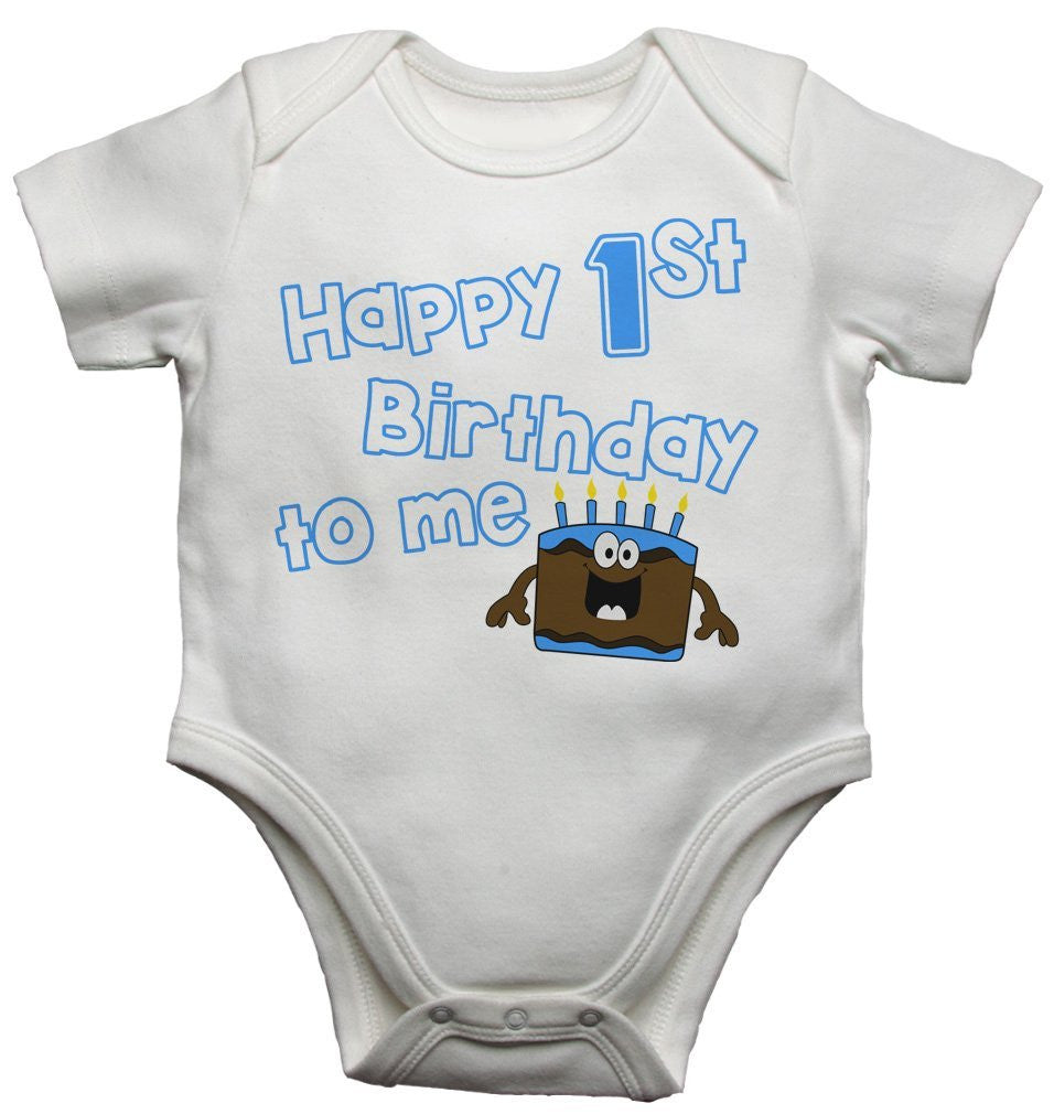 Happy First Birthday To Me - Boy Baby Vests Bodysuits