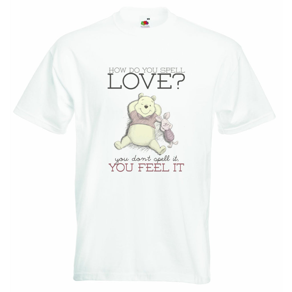 How Do You Spell Love Winnie The Pooh Baby T-shirt