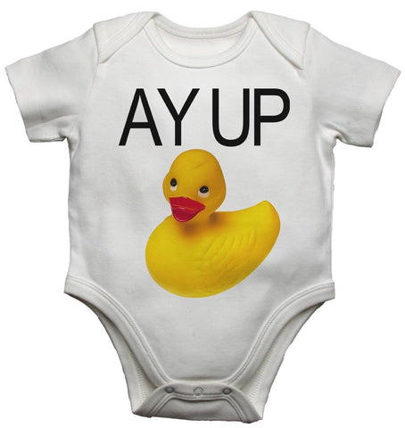Ay Up Duck Yellow Rubber Duck Baby Vests Bodysuits