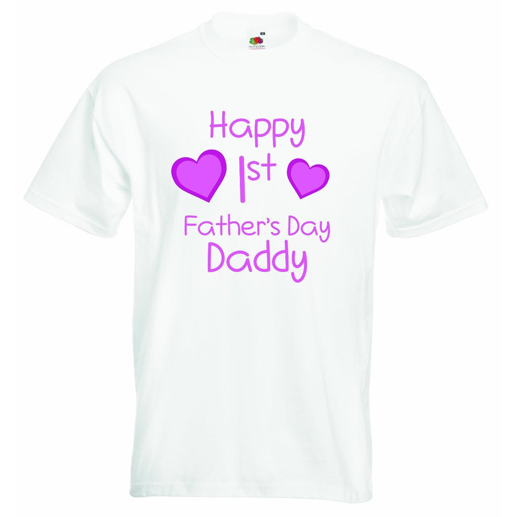 Happy first Fathers Day Daddy - Girls T-shirt