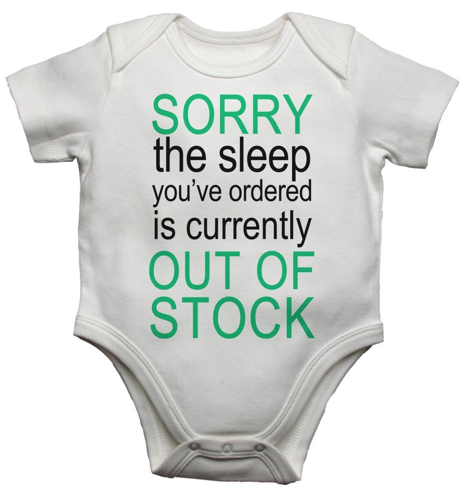 Sorry The Sleep You Ordered Is Currently Out Of Stock Boys Baby Vests Bodysuits