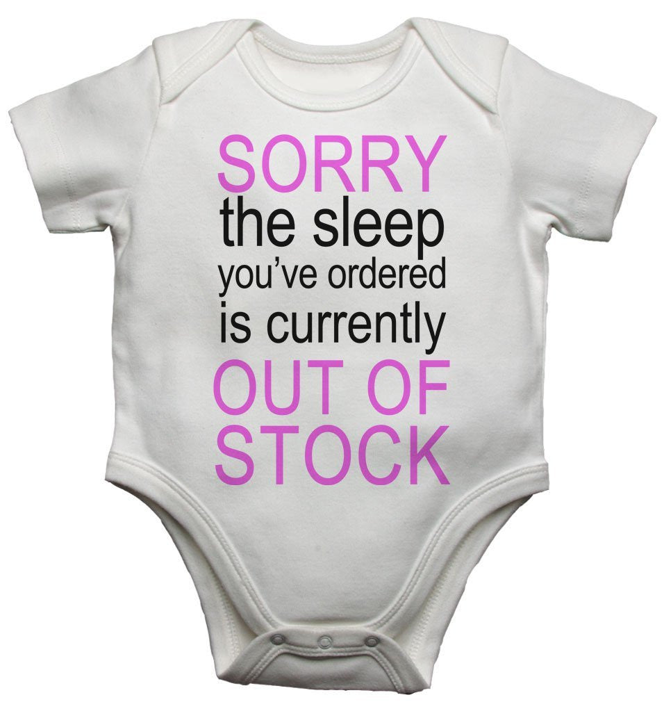 Sorry The Sleep You Ordered Is Currently Out Of Stock Girls Baby Vests Bodysuits