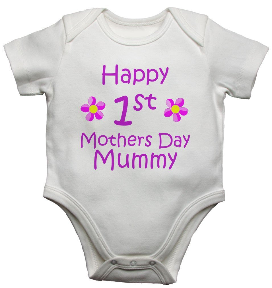 Happy First 1st Mothers Day Mummy Baby Vests Bodysuits