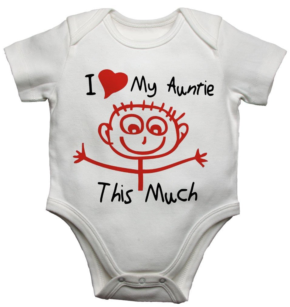 I Love My Auntie This Much Baby Vests Bodysuits