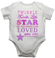 Twinkle Twinkle Little Star Girls Baby Vests Bodysuits