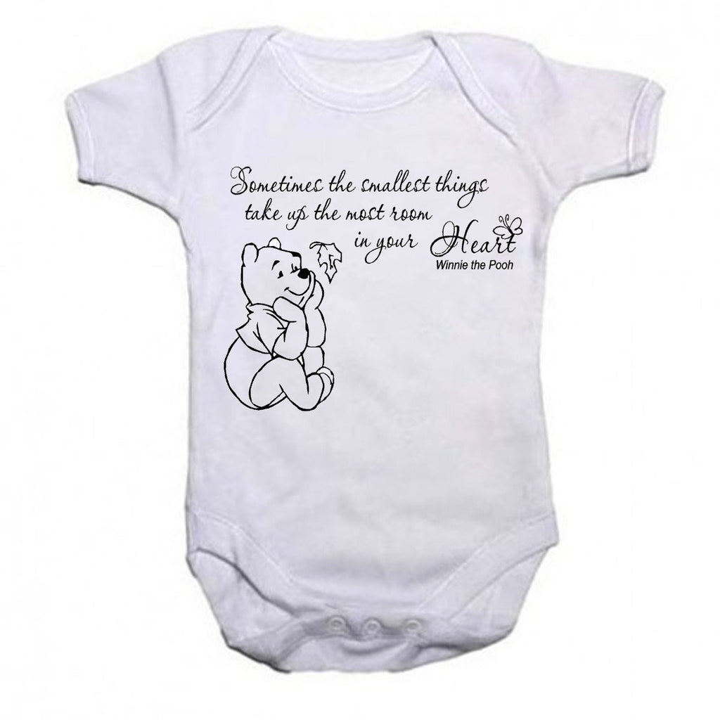 Winnie The Pooh Beautiful Quotation Baby Vests Bodysuits