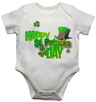 Happy St Patricks Day Baby Vests Bodysuits