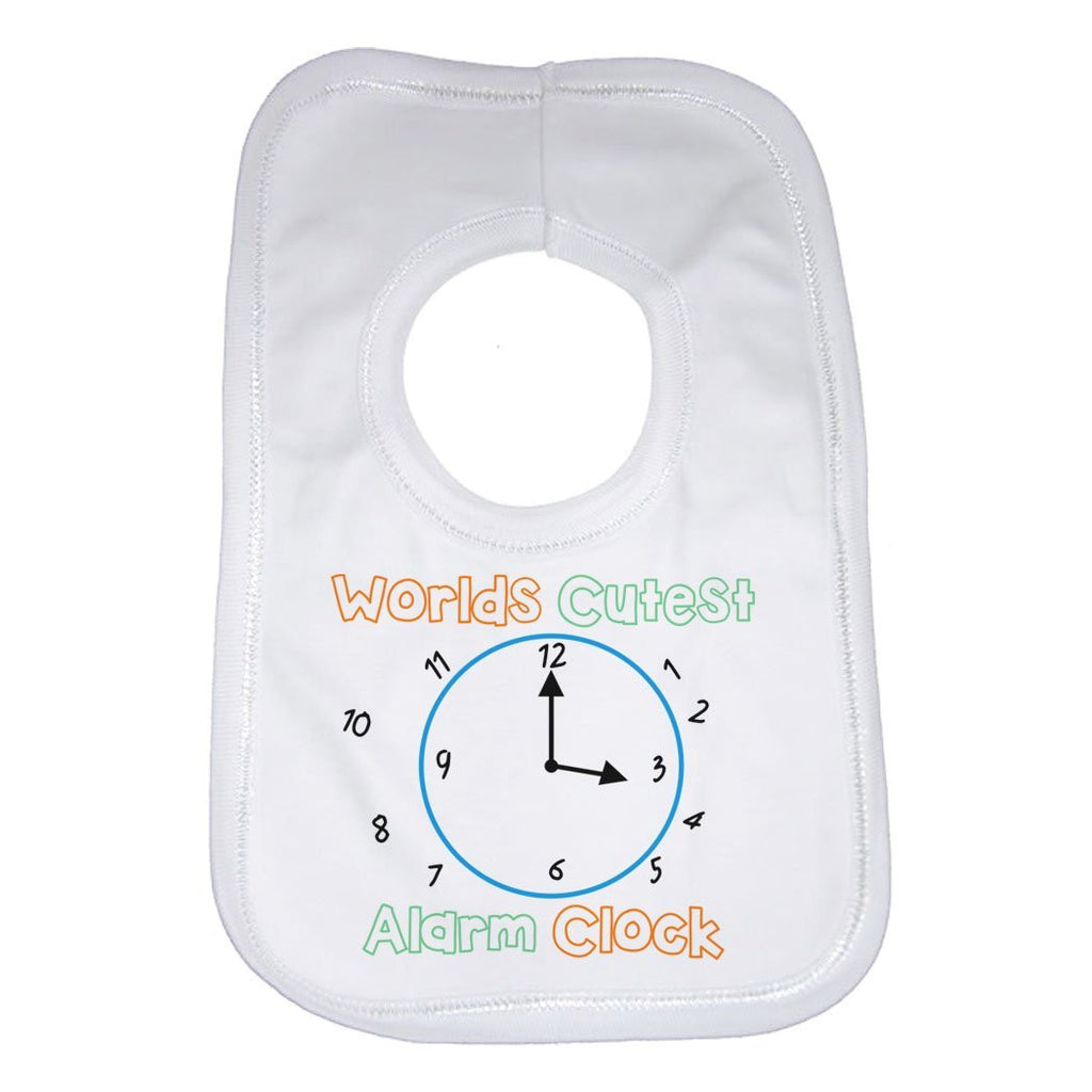 Worlds Cutest Alarm Clock Baby Bib