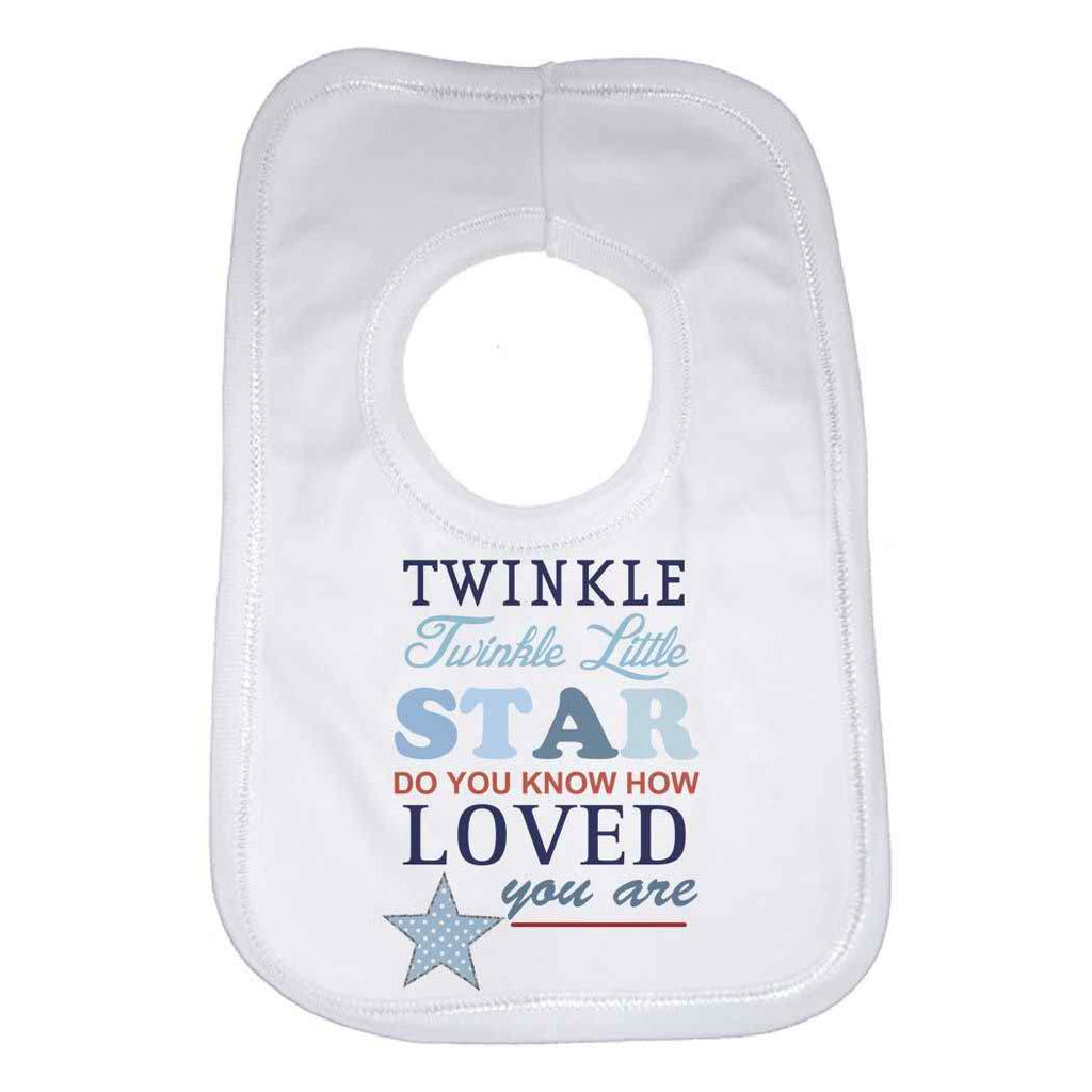 Twinkle Twinkle Little Star Boys Baby Bib