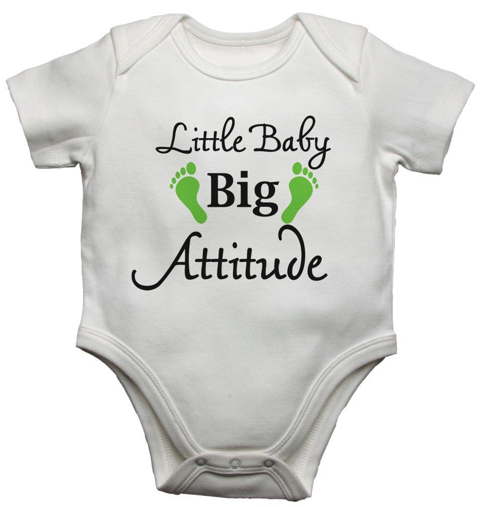 Little Baby Big Attitude Baby Vests Bodysuits