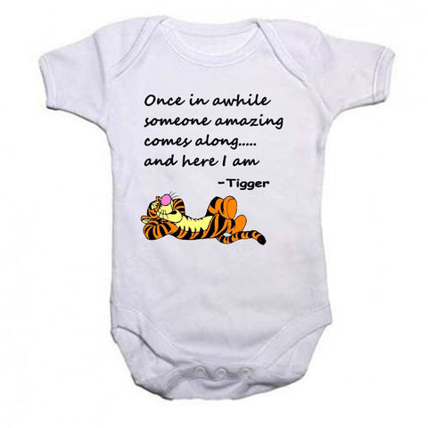 Tigger Beautiful Quotation Baby Vests Bodysuits