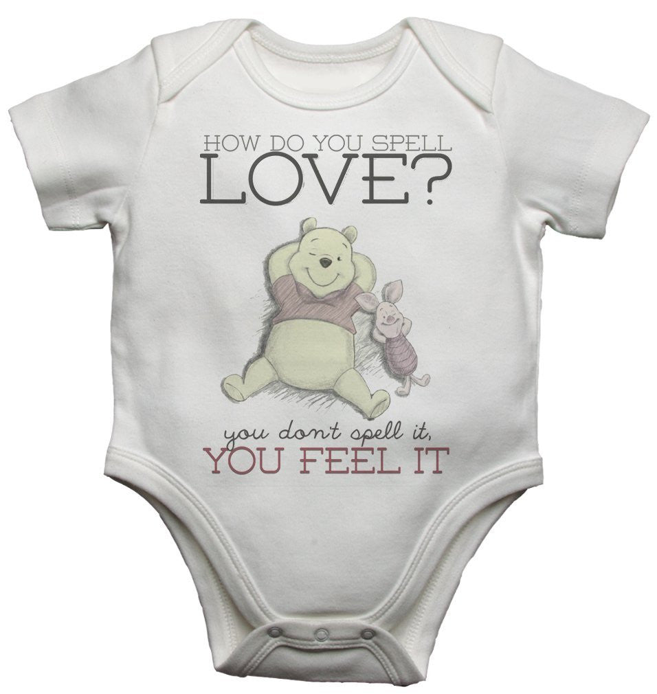 How Do You Spell Love Beautiful Winnie The Pooh Quotation Baby Vests Bodysuits