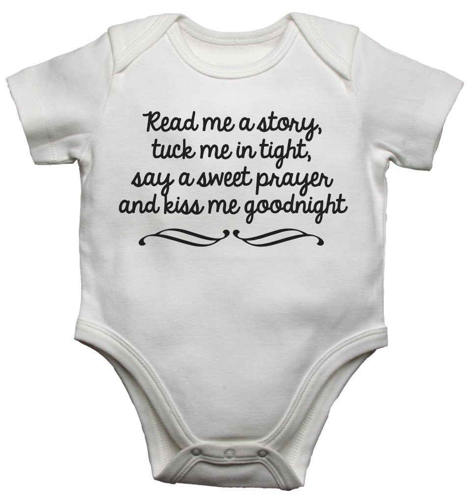 Read Me A Story Tuck Me In Tight Baby Vests Bodysuits