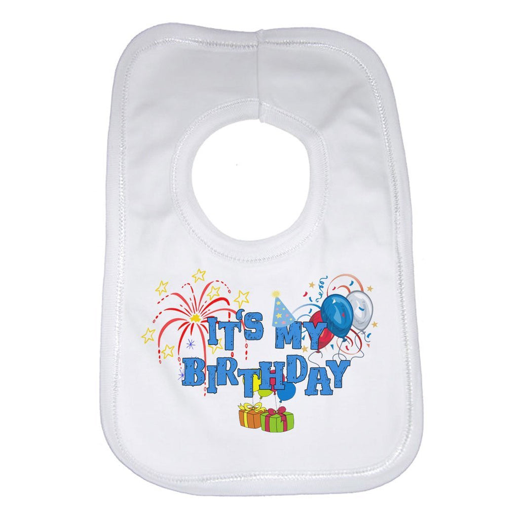 It's My Birthday - Boys - White Baby Bib