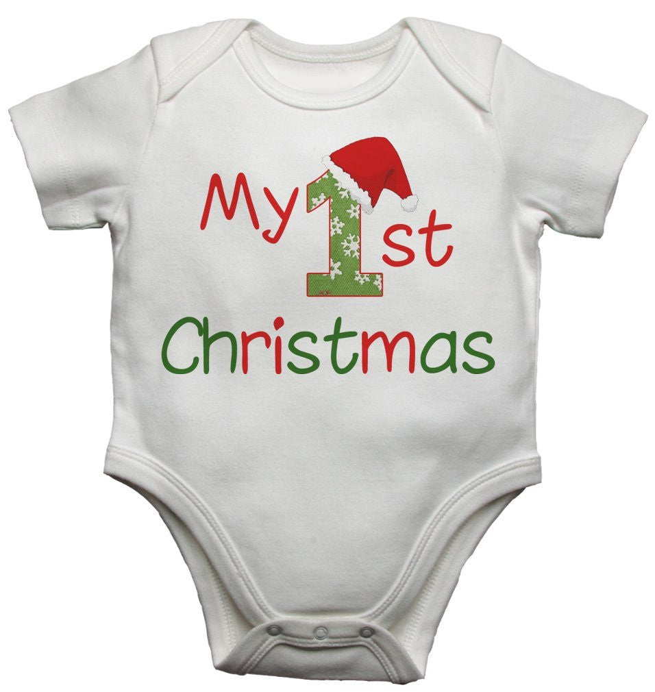 My 1st Christmas Baby Vests Bodysuits