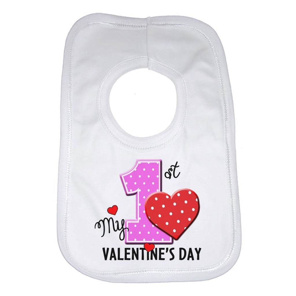 My First 1st Valentines Day Baby Bib