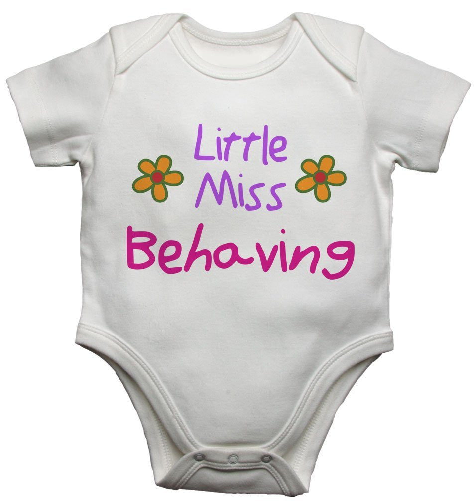 Little Miss Behaving Baby Vests Bodysuits