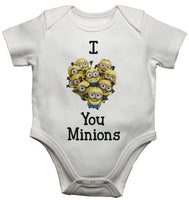 I Love You Minions Baby Vests Bodysuits
