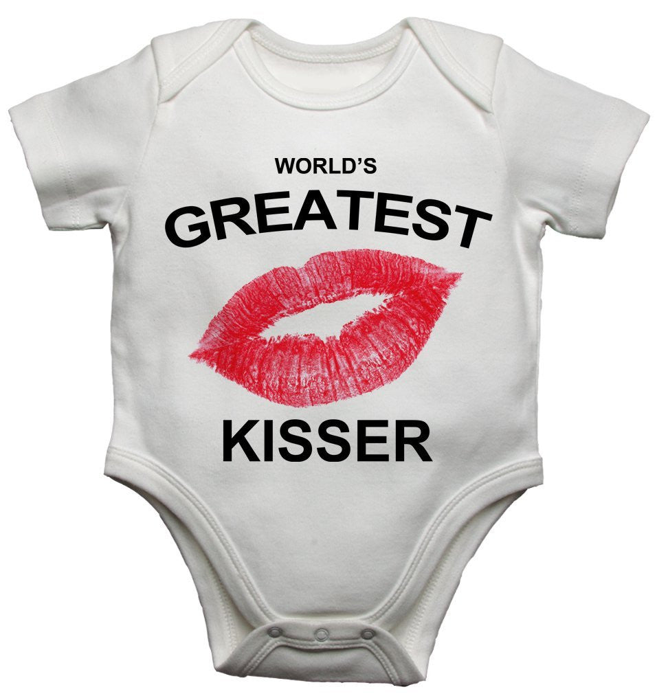 Worlds Greatest Kisser Baby Vests Bodysuits