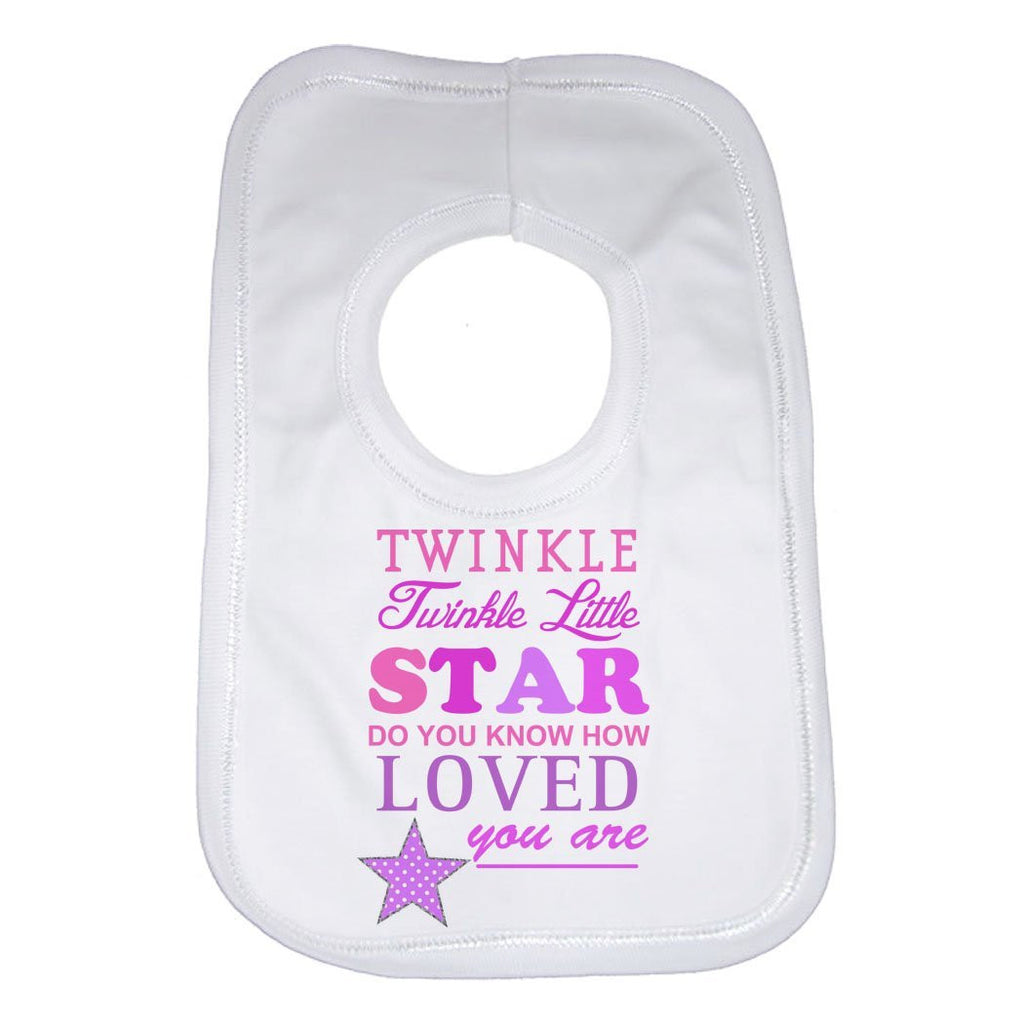 Twinkle Twinkle Little Star Girls Baby Bib