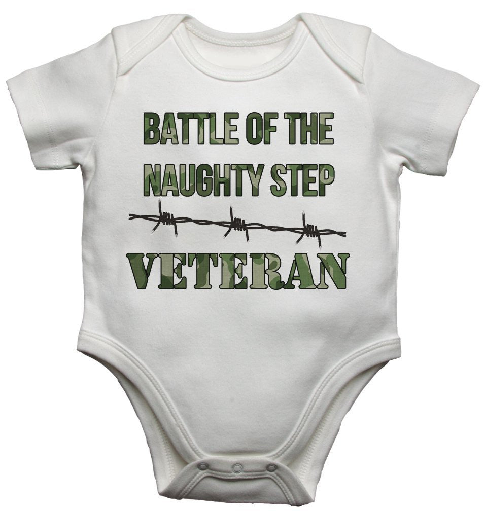 Battle of the Naughty Step Veteran - Boys Baby Vests Bodysuits