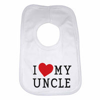 I Love My Uncle Boys Girls Baby Bibs