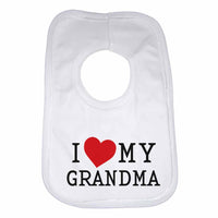 I Love My Grandma Boys Girls Baby Bibs
