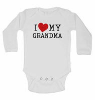 I Love My Grandma - Long Sleeve Baby Vests for Boys & Girls