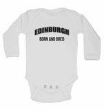 Edinburgh Born and Bred - Long Sleeve Baby Vests for Boys & Girls