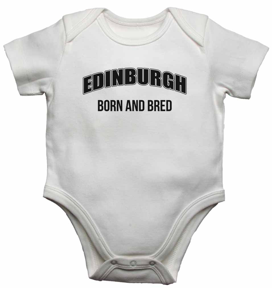 Edinburgh Born and Bred - Baby Vests Bodysuits for Boys, Girls