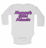 Mummy's Little Miracle - Long Sleeve Baby Vests