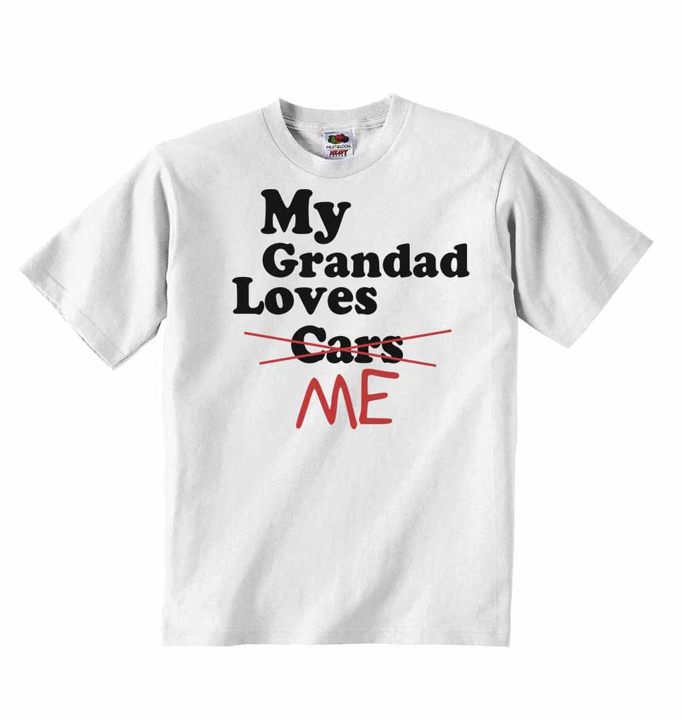 My Grandad Loves Me not Cars - Baby T-shirts