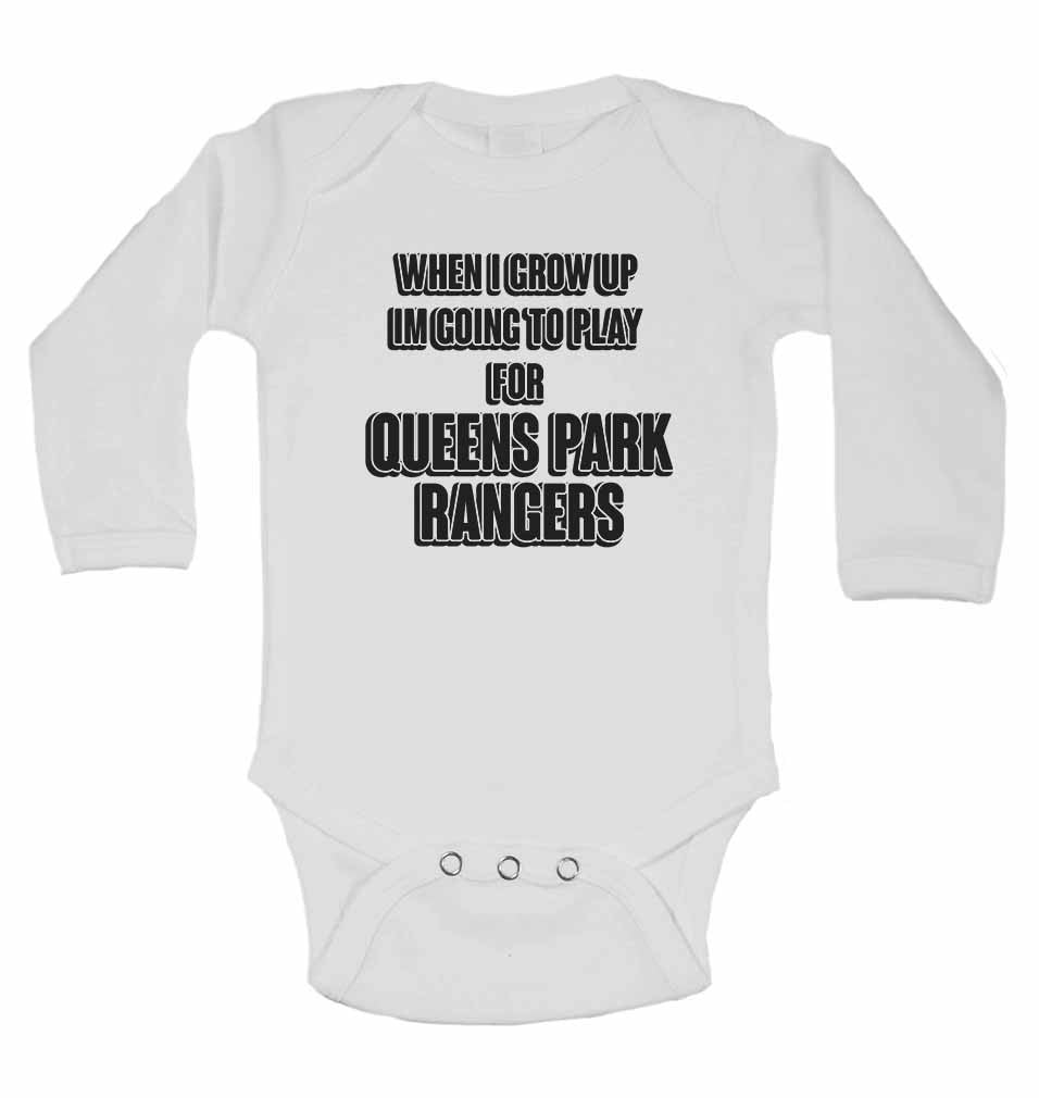 When I Grow Up Im Going to Play for Queens Park Rangers - Long Sleeve Baby Vests