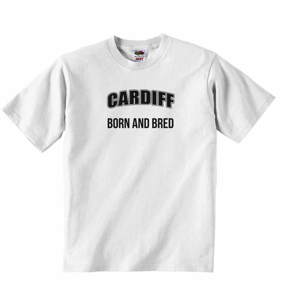 Cardiff Born and Bred - Baby T-shirt