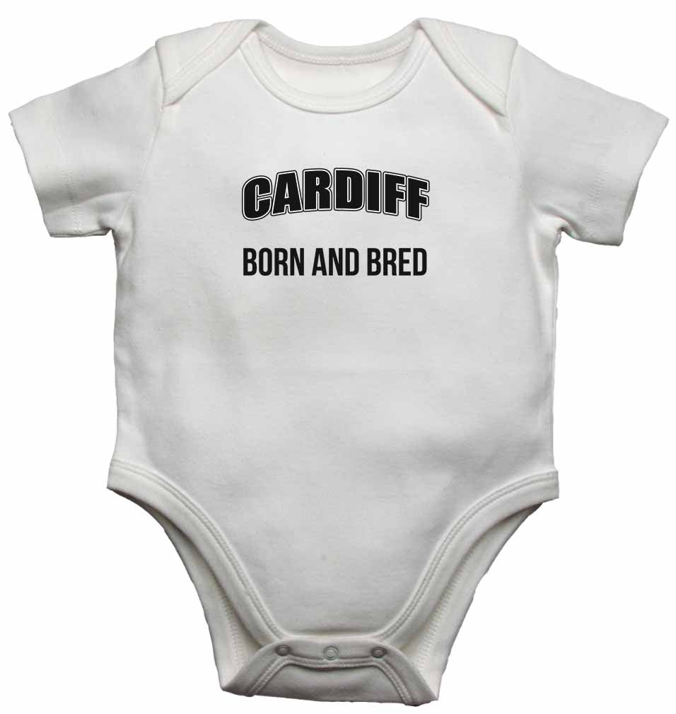 Cardiff Born and Bred - Baby Vests Bodysuits for Boys, Girls