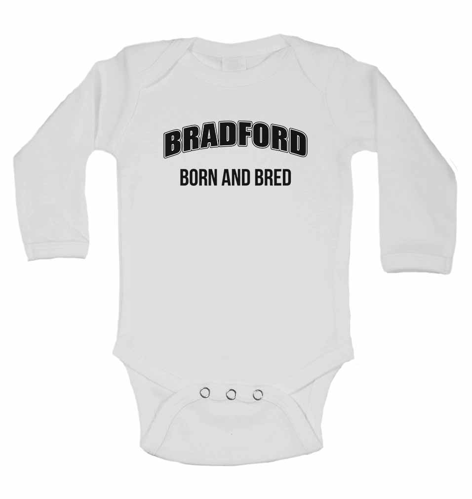Bradford Born and Bred - Long Sleeve Baby Vests for Boys & Girls