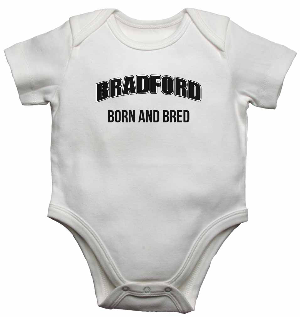 Bradford Born and Bred - Baby Vests Bodysuits for Boys, Girls