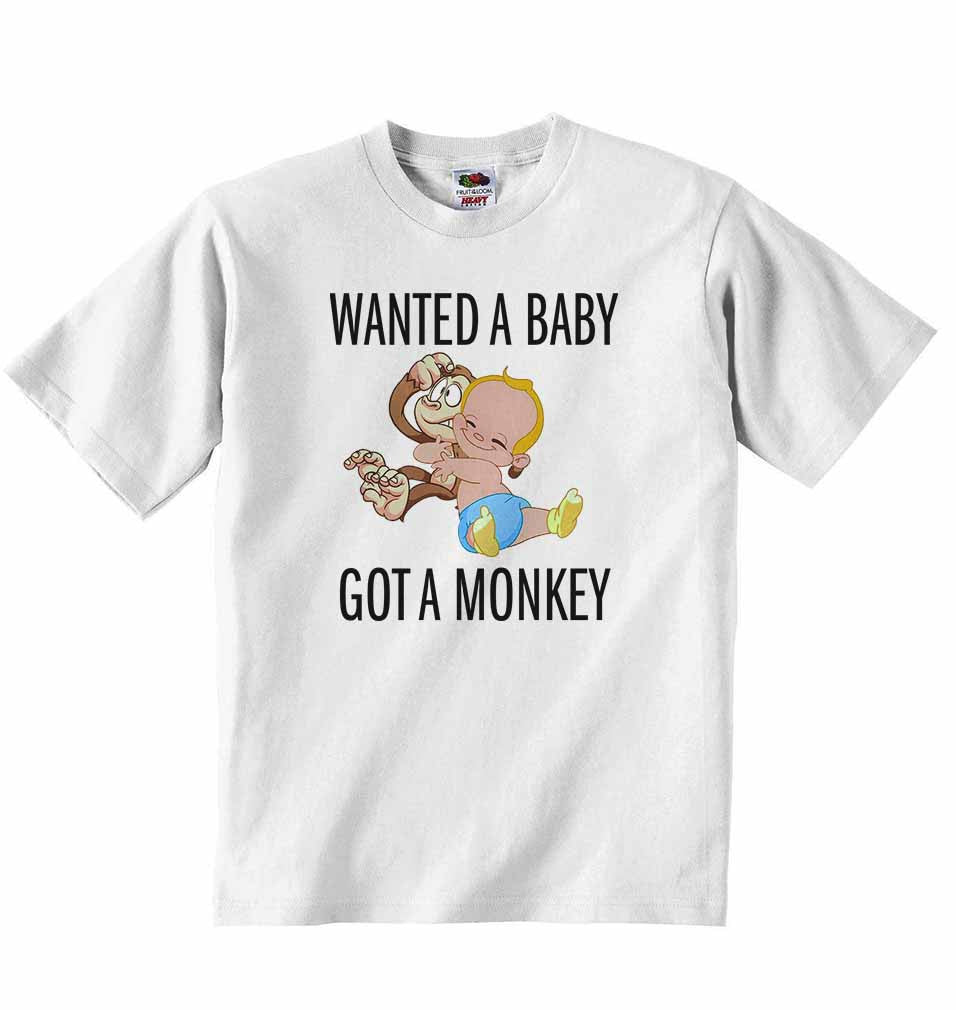Wanted a Baby Got a Monkey - Baby T-shirt