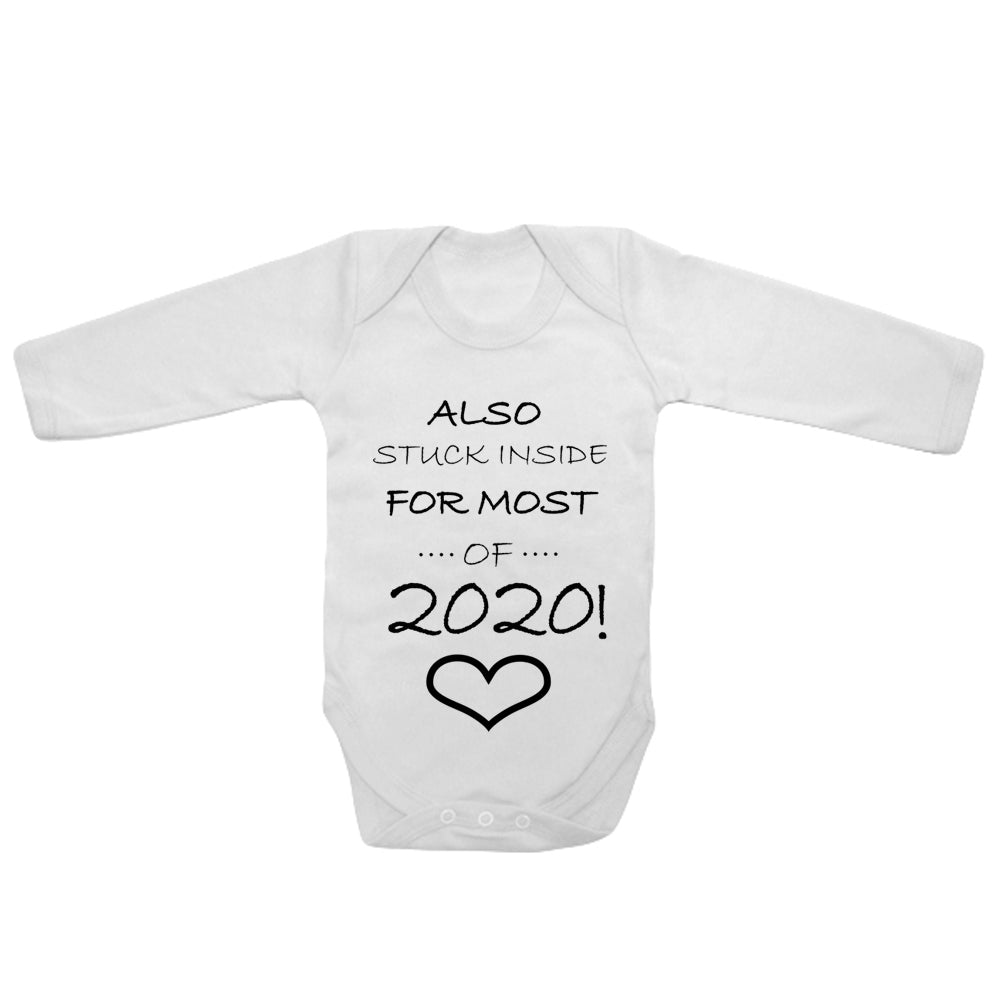Baby Long Sleeved Vest Bodysuit Grow Stuck Inside for Most of 2020 Newborn Gift
