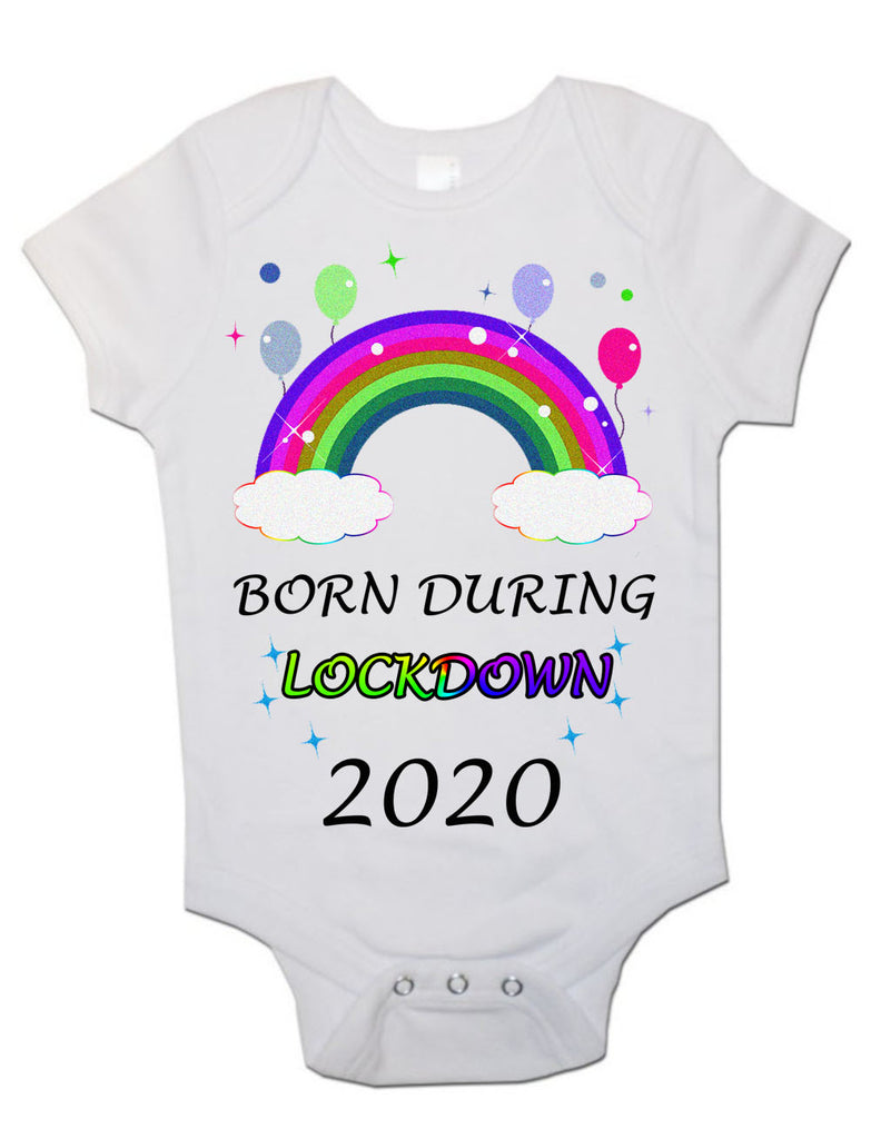 Soft Cotton BabyVests Bodysuits Grows Born During Lockdown 2020 for Newborn Gift