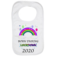 Personalised Soft Cotton Baby Bib Born During Lockdown 2020 for Boys & Girls