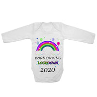 Baby Long Sleeved Vest Bodysuit Grow Born During Lockdown 2020 for Newborn Gift