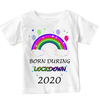 Soft Cotton Baby T-shirt Born During Lockdown 2020 Gift for Boys & Girls