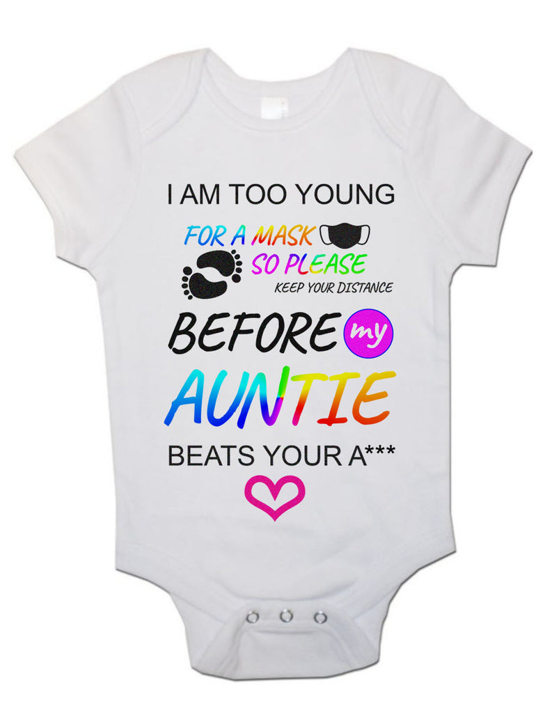 Soft Cotton Baby Vests Bodysuits Grows I Am Too Young For Mask for Newborn Gift