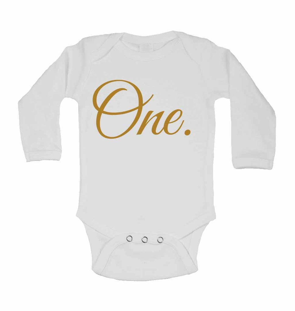 One. - Long Sleeve Baby Vests