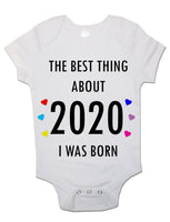 Soft Cotton BabyVests Bodysuits Grows The Best Thing About 2020 for Newborn Gift
