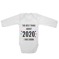 Baby Long Sleeved Vest Bodysuit Grow The Best Thing About 2020 for Newborn Gift